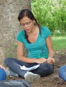 La talentosa Heredia, en una de nuestras clases de Gerencia Ambiental en el Parque del Este, Barquisimeto, Venezuela
